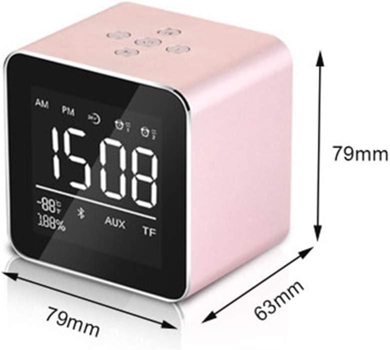 SSCEE Pantalla Multifunción Mini LED Medidor Digital Temperatura Espejo Despertador, Radio Reloj con Altavoz Bluetooth: Amazon.es: Hogar