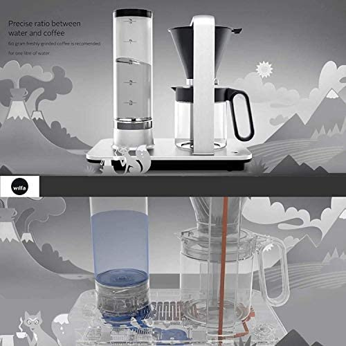 Wilfa Precision Automatic Coffee Brewer (WSP-1A), Detachable Water Tank, Precise Temperature and Water Control, Hot Warming Plate, Glass Carafe, Pour ...