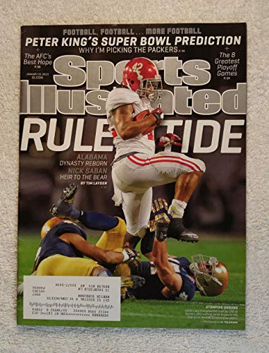 2013 Ncaa Football Champion - Eddie Lacy - Alabama Crimson Tide - 2012 National Champions! - Sports Illustrated - January 14, 2013 - Notre Dame - College Football - SI