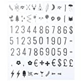 TOOGOO(R) 75pcs Replacement Letters & Numbers Symbols black for A4 Cinema Letter Light Box Cinematic Light box Wedding Words Light Box is NOT included
