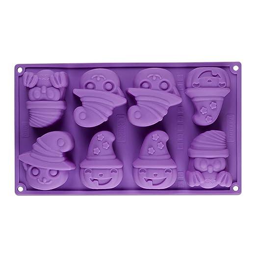 Ogquaton Halloween Ghost calabaza molde de silicona para tartas ...