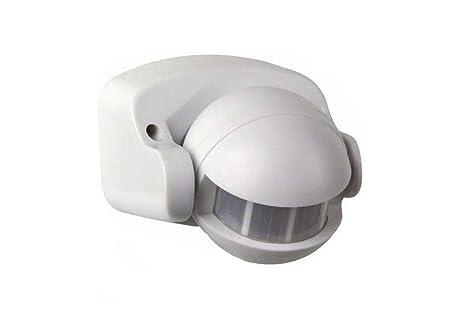 Sensor de movimiento por infrarrojos 180° PIR crepuscular, con luz
