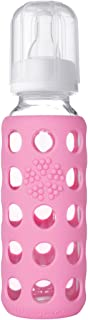 product image for Lifefactory 9-Ounce BPA-Free Glass Baby Bottle with Silicone Sleeve