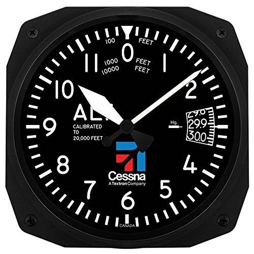 Trintec Aviation Cessna Altimeter Instrument Style 12 Hour 10 Wall Clock 3060-10CES