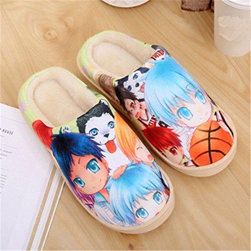 Bromeo Kuroko No Basuke Anime Super Suave Zapatillas de estar por casa Felpa Zapatos