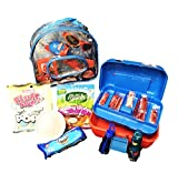 Marvel Spiderman Fishing Gift Set. Includes tackle box and fishing net plus Swedish fish, Gummy worms, Oreos and a fun edible craft!