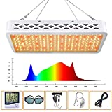 LED Grow Light 1000W Full Spectrum Sunlight 3500K White and Red Added Grow