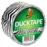 Colored Duct Tape, 1.88'''' x 10 yds, 3'''' Core, Zebra, Sold as 1 Roll