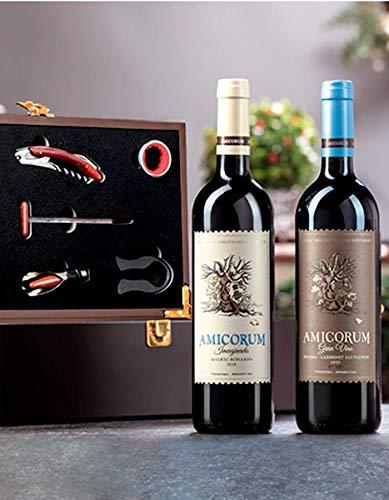 Vino Amicorum Imaginado Malbec/Bonarda 750ml, Vino Amicorum Gran Vino Malbec/Cabernet Sauvignon 750ml, Estuche Para Dos...