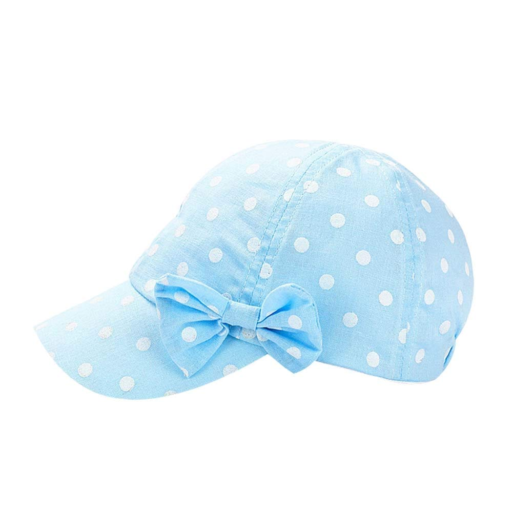 Summer Hat Cap Toddler Sun Hat Girls UV Protection Dot/&Bowknot Beach Hat Baseball Caps UPF 50+