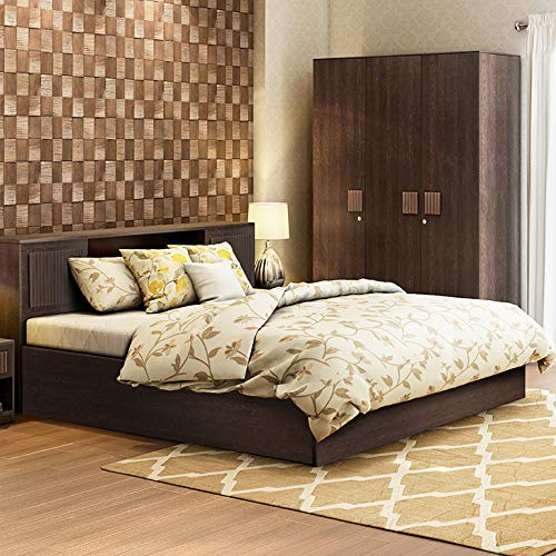Hometown Tiago Queen Size Bed With Box Storage (Wenge)