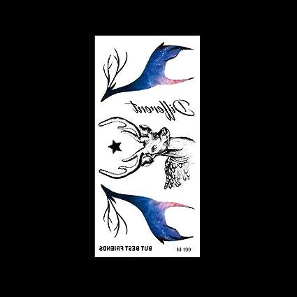 1 piezas etiqueta engomada del tatuaje impermeable etiqueta ...