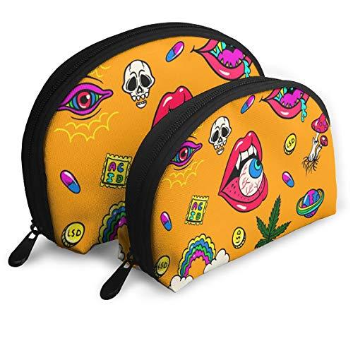 Eratdatd Customized Halloween Devil's Eye Shell Portable Zipper Bag
