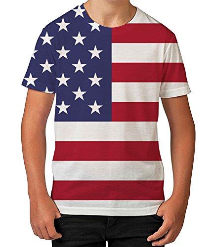 Kids Graphic T Shirt Boys Top American Flag Youth Tee Shirt
