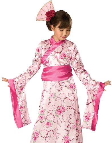 Asian Princess Child Costume (Rubies Girls Asian Princess Halloween Kimono Dress Costume - Medium)