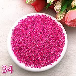 New 1000 pcs 2mm Charm Glass Beads Necklace DIY Bracelet for Making Jewelry Accessories,34