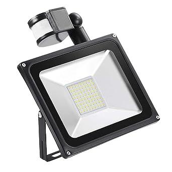 100W LED Fluter mit PIR Bewegungsmelder Flutlicht Warmweiß Aussenstrahler IP65