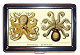 Steampunk Octopus 1800s Victorian Naturalist: ID Wallet or Cigarette Case USA Made