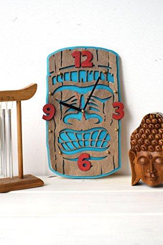 Tiki-wooden-Wall-Clock