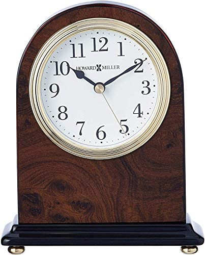 Howard Miller Bedford Table Clock 645-576 Walnut Finish with Quartz Movement