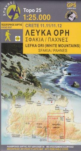 Lefka Ori - Sfakia / Pachnes (Crete, Greece) 1:25,000 Hiking Map ANAVASI