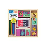 Melissa & Doug Wooden Stamp Set Disney Princesses (Arts & Crafts, Sturdy Wooden Storage Box, Washable Ink, 17 Pieces, 8.75' H x 8' W x 1.5' L)