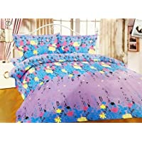 3D Designer Printed 120Tc Polycotton Double Bedsheet with 2 Pillow Covers