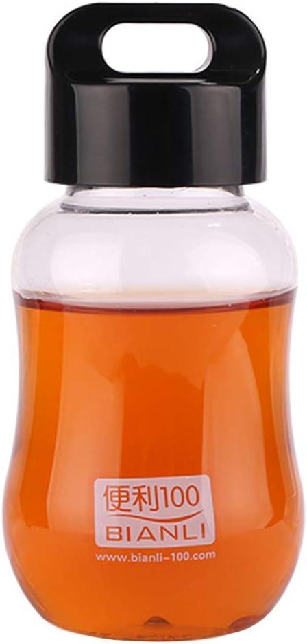 longyitrade - Cantimplora para niños de 6 onzas, sin BPA, Herramientas para Beber Bonitas para niños en Botella de Color Brillante, Negro