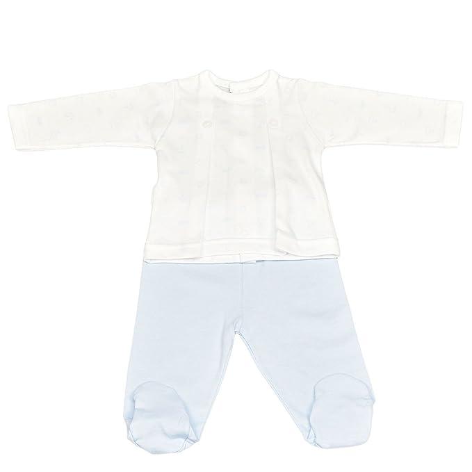 Babidu 56235 Conjunto 2P Polaina, Pijama Unisex bebé, Azul (Celeste 001),