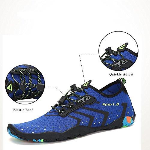 Herren Fitness Dicke Sommer Strand Unisex Sohle Damen Badeschuhe Männer blau Frauen Sport Surfschuhe Schwimmschuhe TxYCndwqH