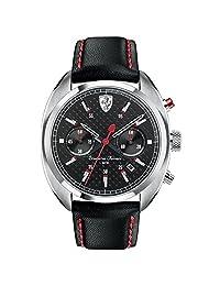 Ferrari Mens Scuderia Sport Chrono Analog Dress Quartz Watch (Imported) 0830239