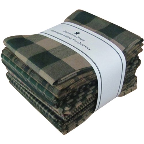 Dunroven House Homespun 12-Piece Fat Quarters, 18 by 21-Inch, Green by Dunroven House