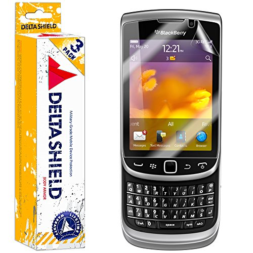 DeltaShield Screen Protector for BlackBerry Torch 9810 (3-Pack) BodyArmor Anti-Bubble Military-Grade Clear TPU -