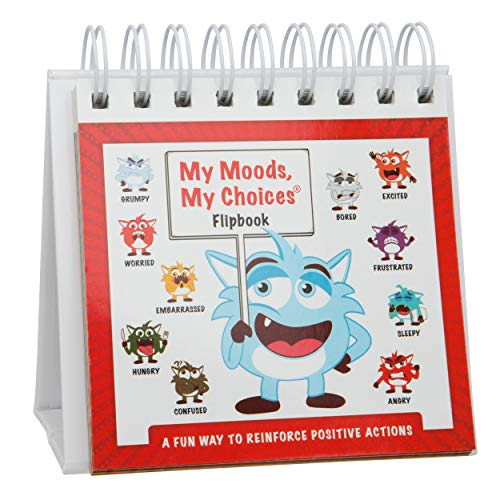 My Moods, My Choices Flipbook Kids; 20 Different Moods/Emotions; Help Kids Identify Feelings Make Positive Choices; Laminated Pages