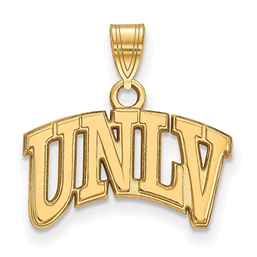 - 10k Yellow Gold University Nevada Las Vegas Rebels School Letters Logo Pendant S - (11 mm x 18 mm)