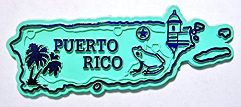 Puerto Rico United States Territory Map Fridge Magnet - Puerto Rico Kitchen