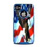 I Love America Quote USA Flag with Eagle Design Print Image Otterbox Commuter iPhone 4 VINYL STICKER DECAL WRAP SKIN