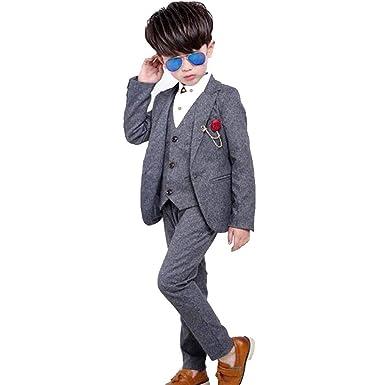 1ba307fc112b2 Amazon.co.jp: JP-KIBOU スーツ 男の子 フォーマル 4点セット キッズ ...