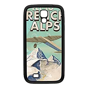French Alps Black Silicon Rubber Case for Galaxy S4 by Nick Greenaway + FREE Crystal Clear Screen Protector