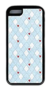 Distinct Waterproof Diamond And White Plaid Love Design Your Own for iphone 5/5S Case