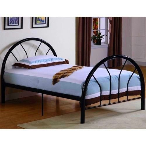 amazoncom new metal twin size kid bed frame with headboard and footboard black kitchen dining - Metal Frame Twin Bed