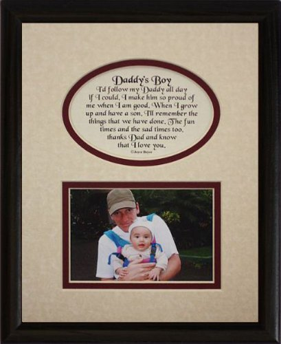 frame creamburgundy mat in black frame heartfelt keepsake picture frame for dad from his boyson on fathers day christmas birthday or valentines