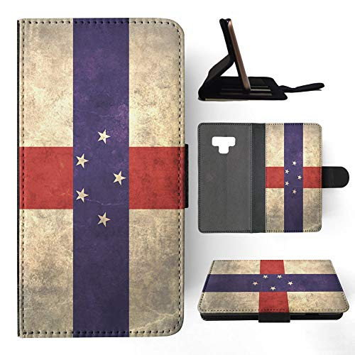 Antilles Netherlands Note (Netherlands Antilles Flag Flip Leather Phone Case Cover for Samsung Galaxy Note 9)