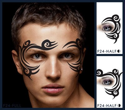 Tribal Eye Stencil Airbrush Makeup Face (Tribal Eye Makeup)