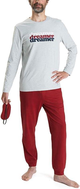 Nightoclock Beryl Conjunto de Pijama para Hombre en algodón orgánico e Antifaz