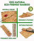 Natural Bamboo Wood Bath Mat: Wooden Door