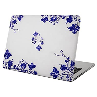 Mosiso Macbook Retina 13 case,Soft-Touch Plastic Hard Case Cover for MacBook Pro 13.3  with Retina Display A1502 / A1425 (NEWEST VERSION, NO CD-ROM Drive), Blue and White Porcelain