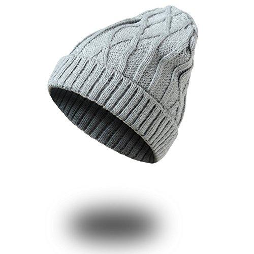 sombreros de Men sombreros MASTER sombreros señoras Halloween caliente Señoras gorros invierno beanie Navidad Gray beige prendas Light wqvYvxFf8
