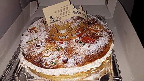 5 Cajas para Roscón de Reyes, Cuñas, Tartas, Repostería .Extra Alta, Extra Grande 35 cm x 35 cm: Amazon.es: Hogar