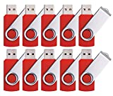 DDC 50pcs 4GB USB 2.0 Flash Drive Memory Stick Fold Storage Thumb Stick Pen Swivel Design Red